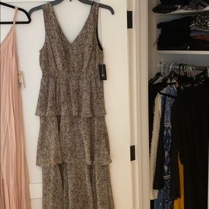 NWT - Inc International Tiered Leopard Dress
